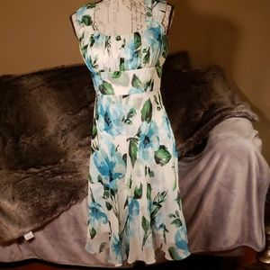 Donna Ricco sweet swingy silk dress 10P